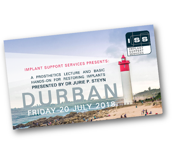 Implant Support Services presents: A dental prosthetics lecture and basic hands-on for restoring implants presented by Dr JP Steyn.